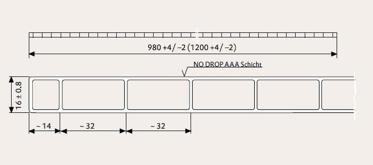 Zeichnung einer Plexiglas Stegplatte 16/32