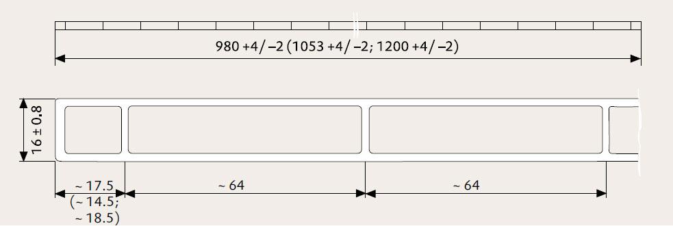Zeichnung einer Plexiglas Stegplatte 16/64